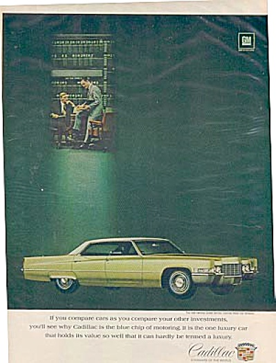 1969 Cadillac Luxury Car PROMO Ad 2 MEN (Image1)