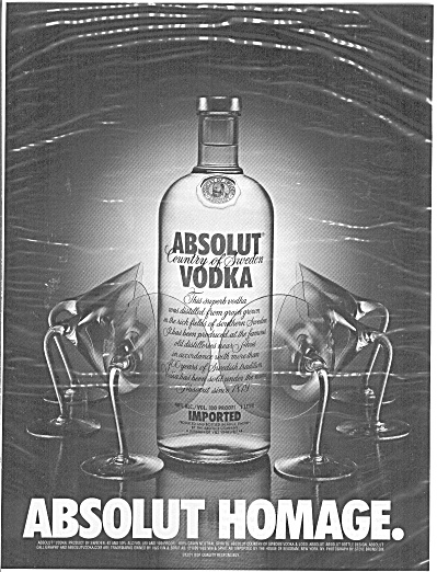 Absolute Homage Country of Sweden Vodka (Image1)