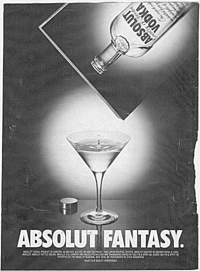 Absolute Vodka Absolute Fantasy Ad 2000
