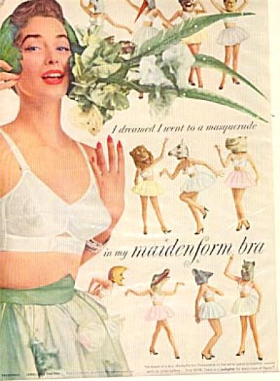 1954 Maidenform I DREAMED MASQUERADE Ad (Image1)