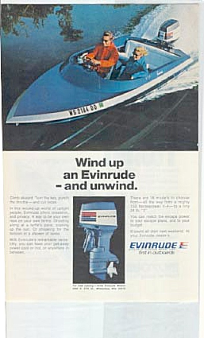 1973 Evenrude Boat Motor Outboards AD (Image1)
