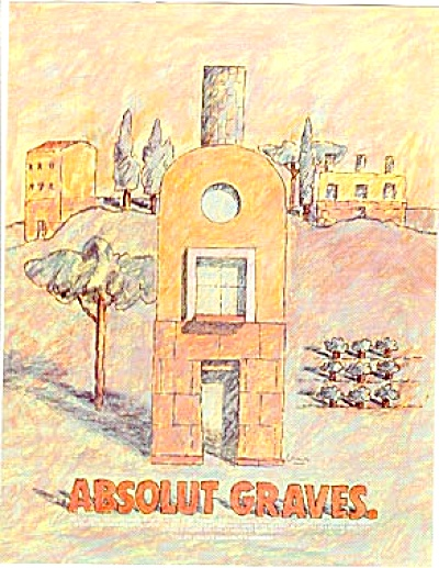 Absolut Graves Ad Artist Michael Graves 1996