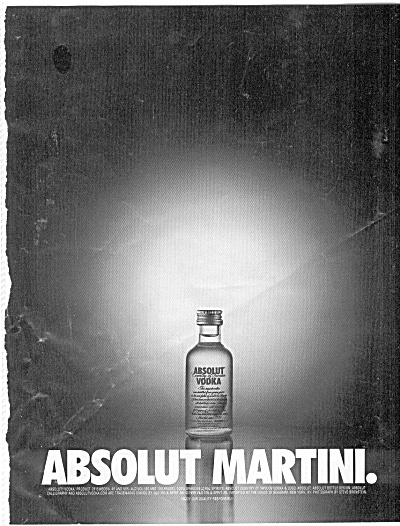 Absolut Martini Ad