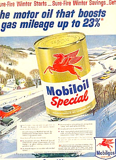 1954 Mobiloil MOBIL Mobilgas Special Ad (Image1)