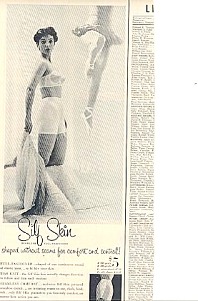 1954 Silf Skin Underwear Beautiful Lady Ad (Image1)