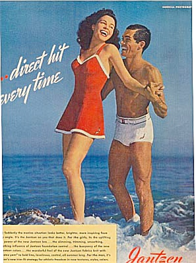 1942 Man & Woman Jantzen Swimsuit AD (Image1)