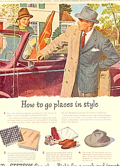 1946 Stetson  Men's Clothing  Hats & More Ad (Image1)