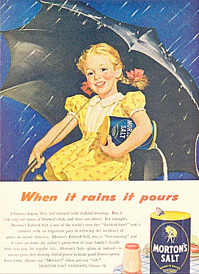1946 Morton Salt Little Girl Ad (Image1)