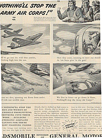 1942 Oldsmobile Warplanes Army Air Corps Ad (Image1)