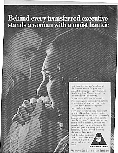 1969 Allied Van Lines Man & Woman Ad (Image1)