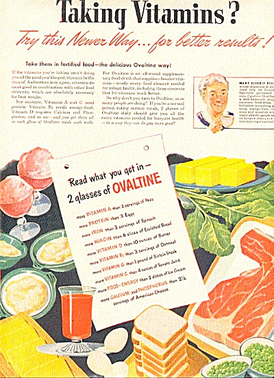 1946 Old Lady Ovaltine Food Ad (Image1)