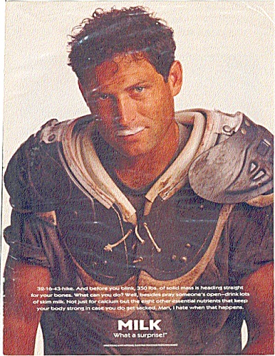 GOT MILK MUSTACHE Steve Young Football Great (Image1)