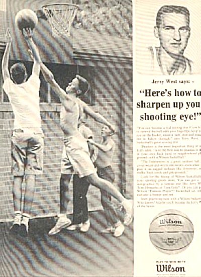 1965 Jerry West Wilson Basketball Ad (Image1)