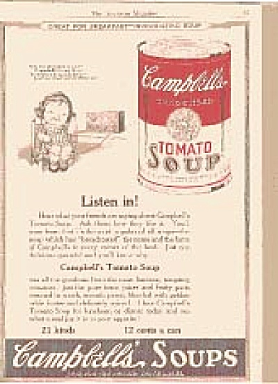 1922 Campbell Soup Little Girl Ad (Image1)