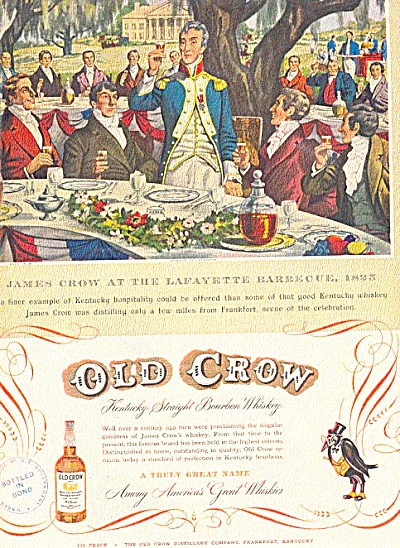 1951 James Crow Lafayette Barbeque Ad