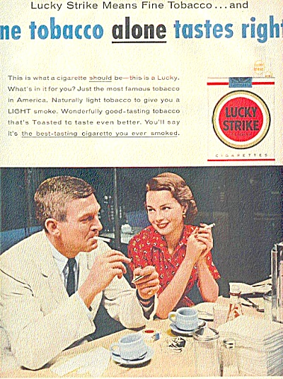 1951 Lucky Strike Man & Woman Ad (Image1)