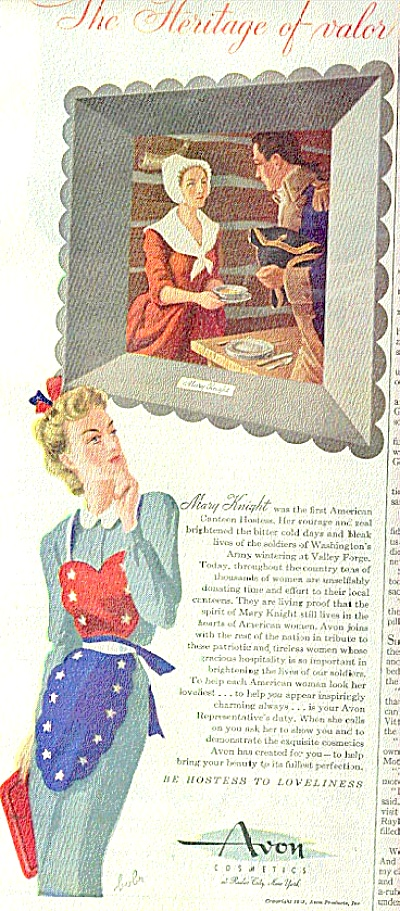 1944 Heritage Of Valor Avon Cometics Ad (Image1)