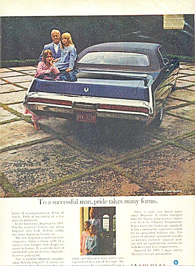 1969 Imperial Chrysler Man & Kids Ad (Image1)
