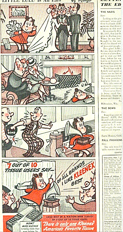 1946 Little Lulu Comic Strip Ad (Image1)