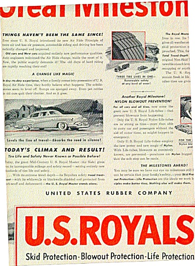 1951 U.S.  Royal Milestone Tire Ad (Image1)