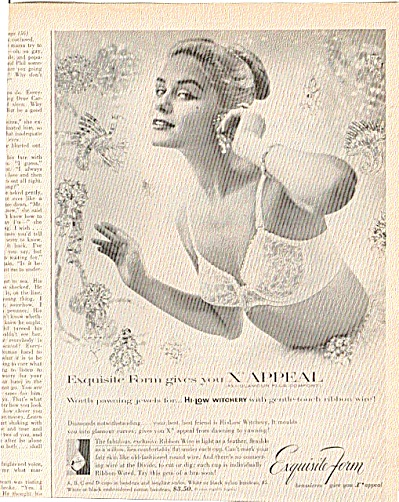 1956  Sexy Lady In Jewels Bra  Ad Exquisite F (Image1)