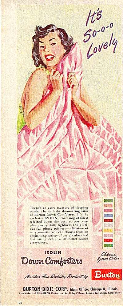 1949 Sexy Lady Wrapped   Comforter AD Burton (Image1)