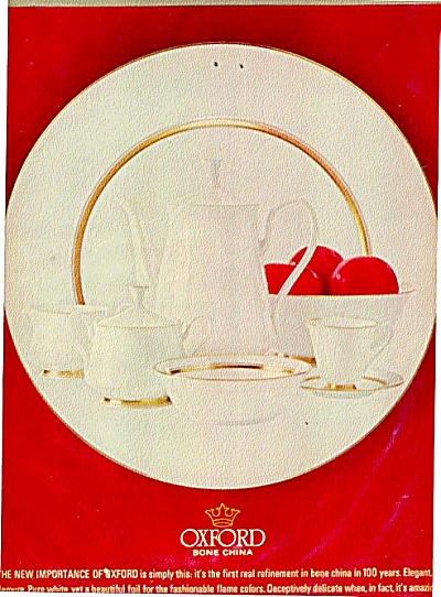 1964 Oxford Bone China Ad (Image1)