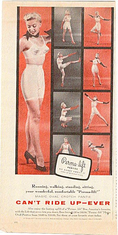 a70fb767d10 1955 Permalift Magic Crotch Pantie - Bra Ad