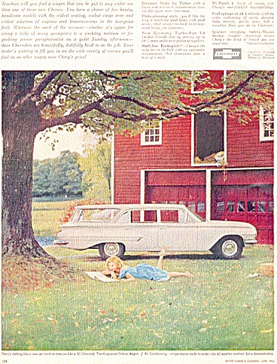 1960 Pretty Girl Red Barn Chevrolet Ad CHEVY (Image1)
