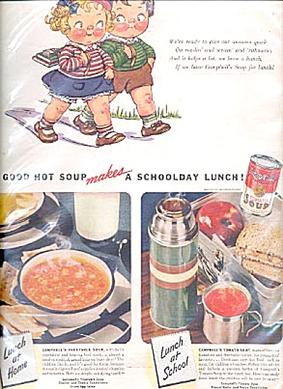 1941 Campbell's Soup Little Boy & Girl Ad (Image1)
