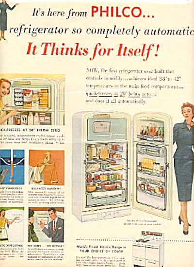 1953 Philco Kitchen Appliances & Women AD (Image1)