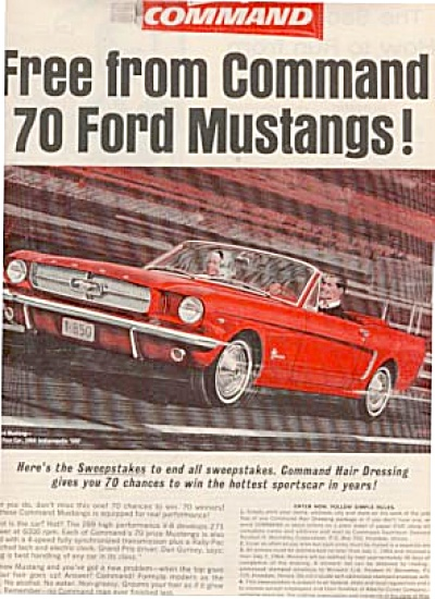 1964 Red Ford Mustang Man & Woman Ad (Image1)