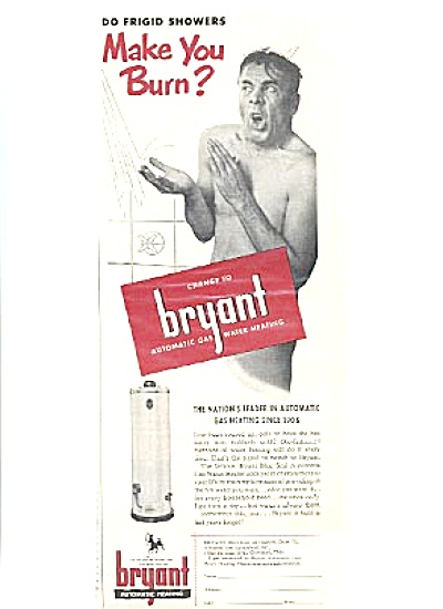 1951 Naked Man Bryant Water Heater Ad (Image1)