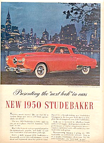 1949 Red 1950 Studebaker Ad (Image1)
