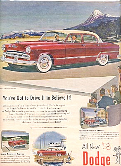 1953 Coronet   Dodge - Mountains Ad (Image1)