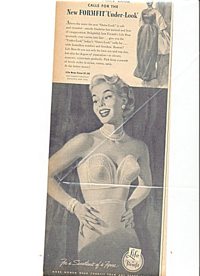 1953 FORMFIT Sexy Looking  Lady In Bra Ad (Image1)