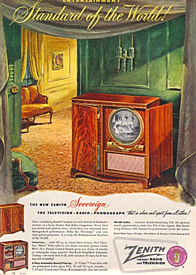 1949 Zenith Radio -Television - Phono Ad (Image1)