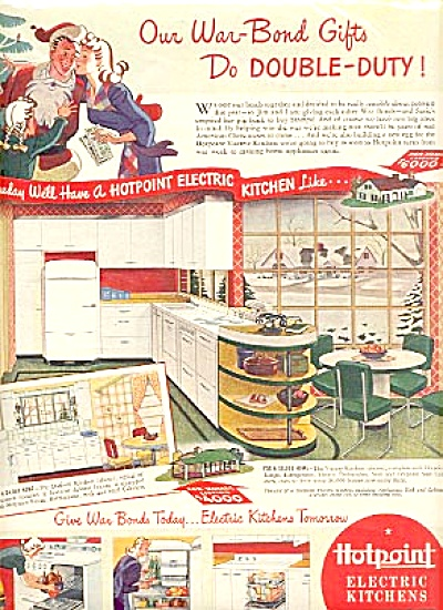 1941 Hot Point Electric Kitchen War Bonds Ad (Image1)