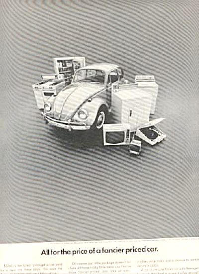 1967 VW BUG Fancier Volkswagon Car Ad (Image1)