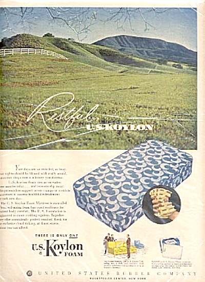1951 United States Rubber Company Mattress Ad (Image1)