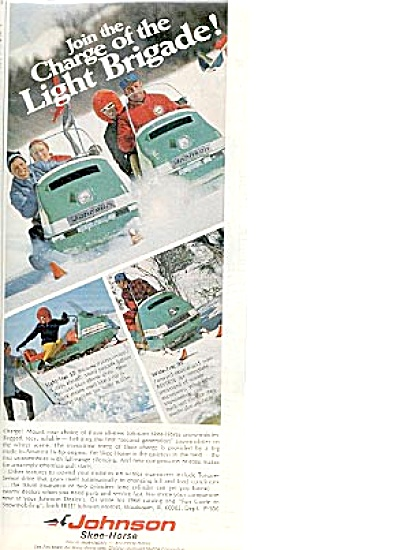 1968 Johnson Skee-Horse Motors Snow Ad (Image1)