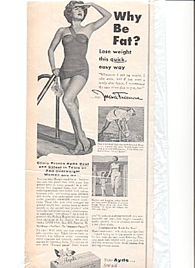 1956 Hollywood Star Mona Freeman Ayds Ad (Image1)