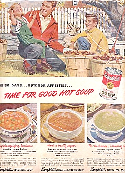 1949 Campbell Soup Fall Leaves Ad (Image1)