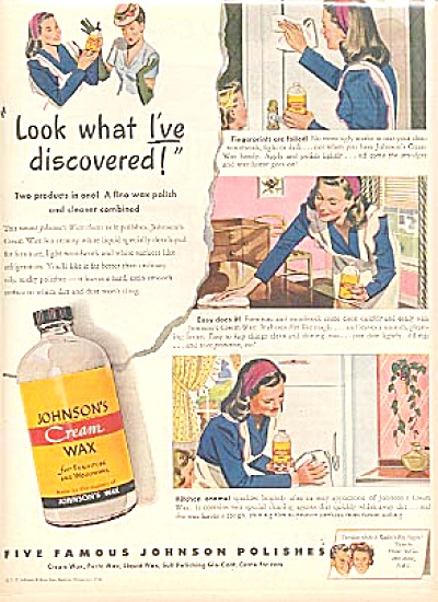 1946 Johnson Wax POLISH Furniture AD (Image1)