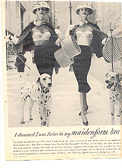 1956 Dalmation Dog Twin Sexy Ladies Bra Ad (Image1)