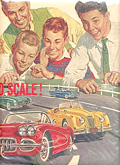2pg FORD 1961 Aurora Model CAR Motori Kit Ad (Image1)