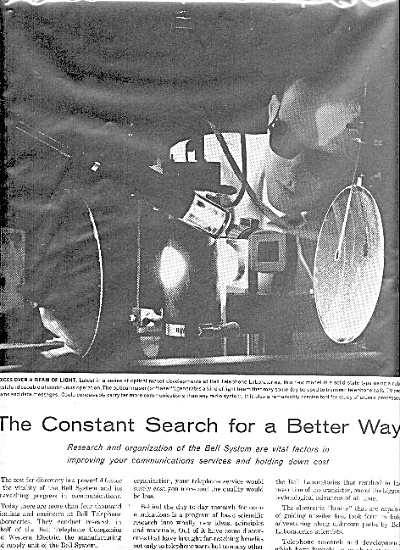 1962 Bell Telephone Laboratory Better Way Ad
