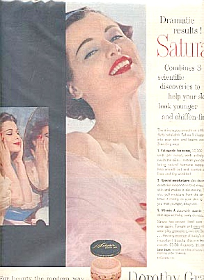 1956 Dorothy Gray Satura Beauty Products Ad (Image1)
