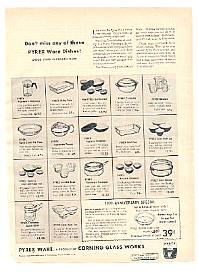 1951 Pyrex Ware Corning Teapot Bowls ++ AD (Image1)