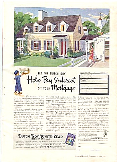 1937 Dutch Boy Lead Paint AD (Image1)